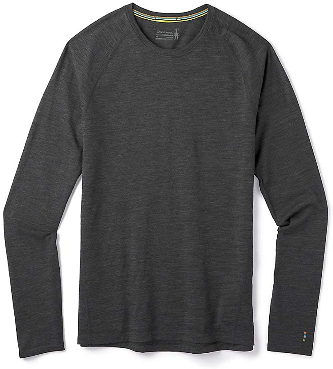 Men's Smartwool Merino 150 Base Layer Long Sleeve in Iron Heather view from the front
