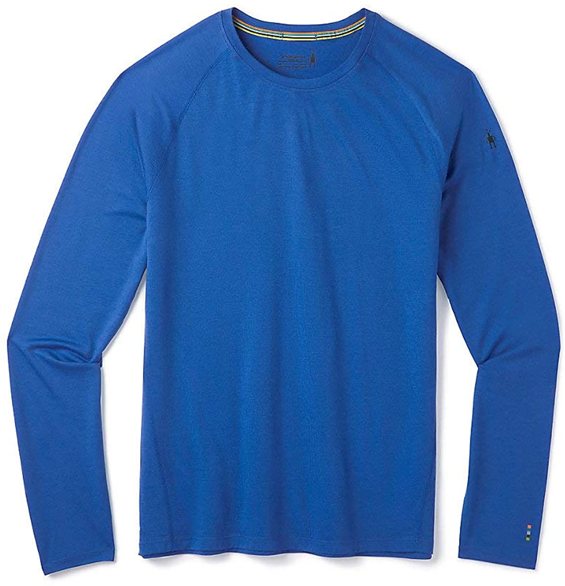 Men's Smartwool Merino 150 Base Layer Long Sleeve in Light Alpine Blue from the side view