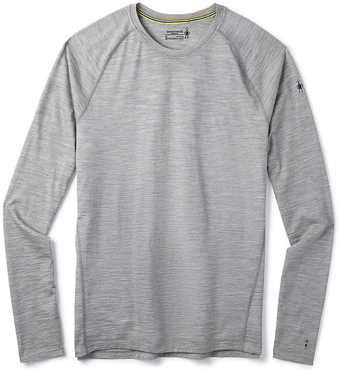 Men's Smartwool Merino 150 Base Layer Long Sleeve in Light Gray Heather from the side view