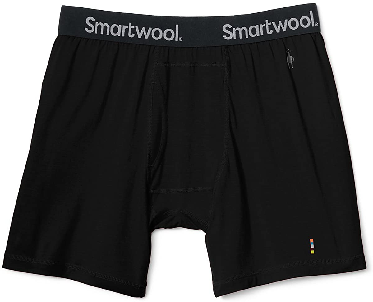 Men's Smartwool Merino 150 Boxer Brief in Black from the side view