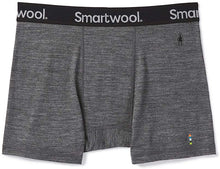 Load image into Gallery viewer, Men's Smartwool Merino Sport 150 Boxer Brief in Medium Gray Heather from the front