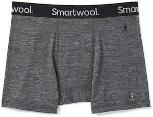 Men's Smartwool Merino Sport 150 Boxer Brief in Medium Gray Heather from the front