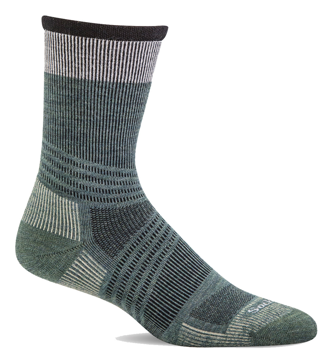 Men's Sockwell Summit Crew II Firm Graduated Compression Sock in Woodland from the front view