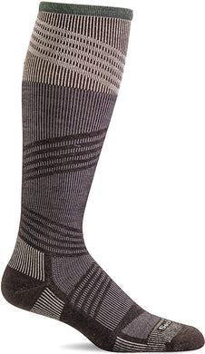 Men's Sockwell Summit II OTC Firm Compression Sock in Espresso