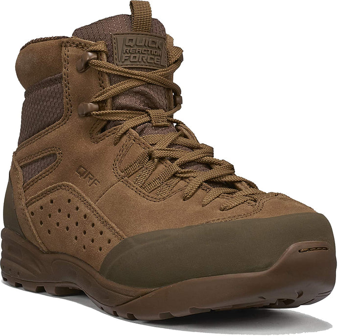Tactical Research Men's QRF DELTA C6 Mid-Cut Approach Boot in Coyote from the side