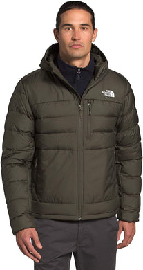 Men's The North Face Aconcagua 2 Hoodie in New Taupe Green from the front view