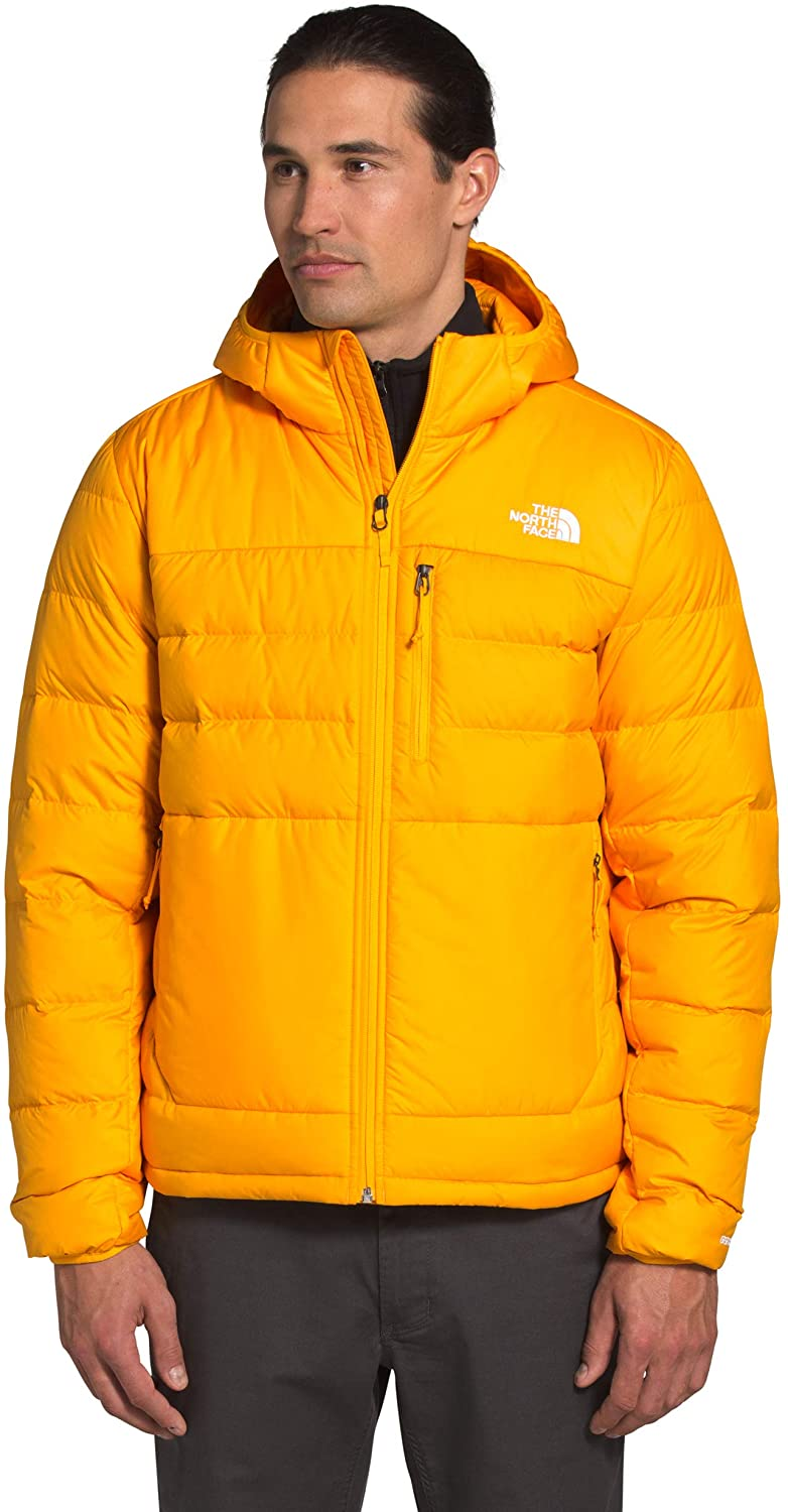 Men's The North Face Aconcagua 2 Hoodie in Summit Gold from the front