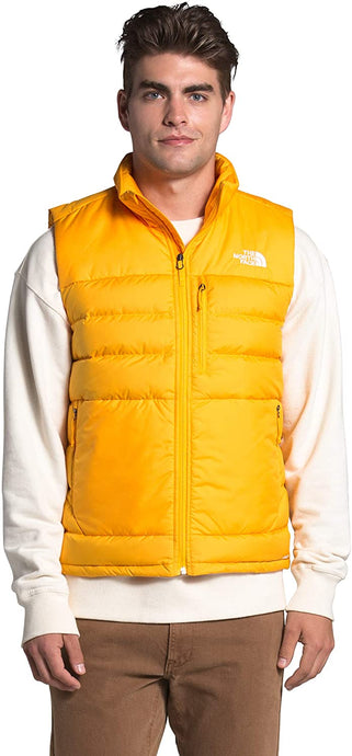 Men's The North Face Aconcagua 2 Vest in Summit Gold from the front
