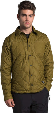 Men's The North Face Fort Point Insulated Flannel Jacket in Fir Green/Root Brown Heritage Plaid
