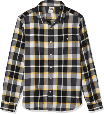 Men's The North Face Long-Sleeve Arroyo Flannel Shirt Shirt in Asphalt Grey Speed Wagon Plaid