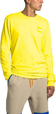 Men's The North Face Long-Sleeve Red Box Tee Tee in TNF Lemon
