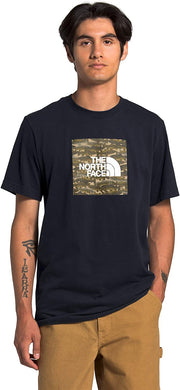 Men's The North Face Short Sleeve Boxed In Tee in Aviator Navy