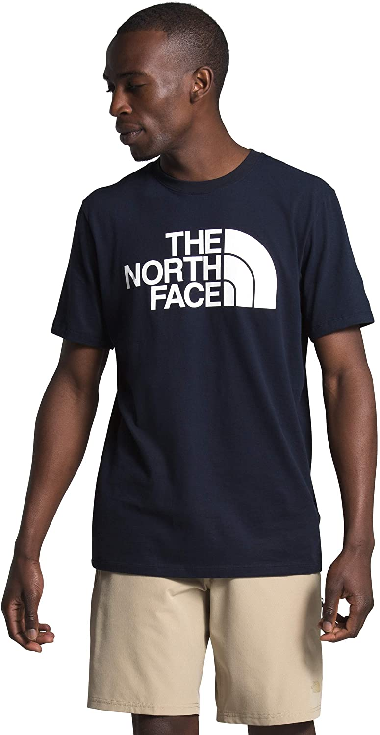 Men's The North Face Short-Sleeve Half Dome Tee in Aviator Navy/TNF White from the front
