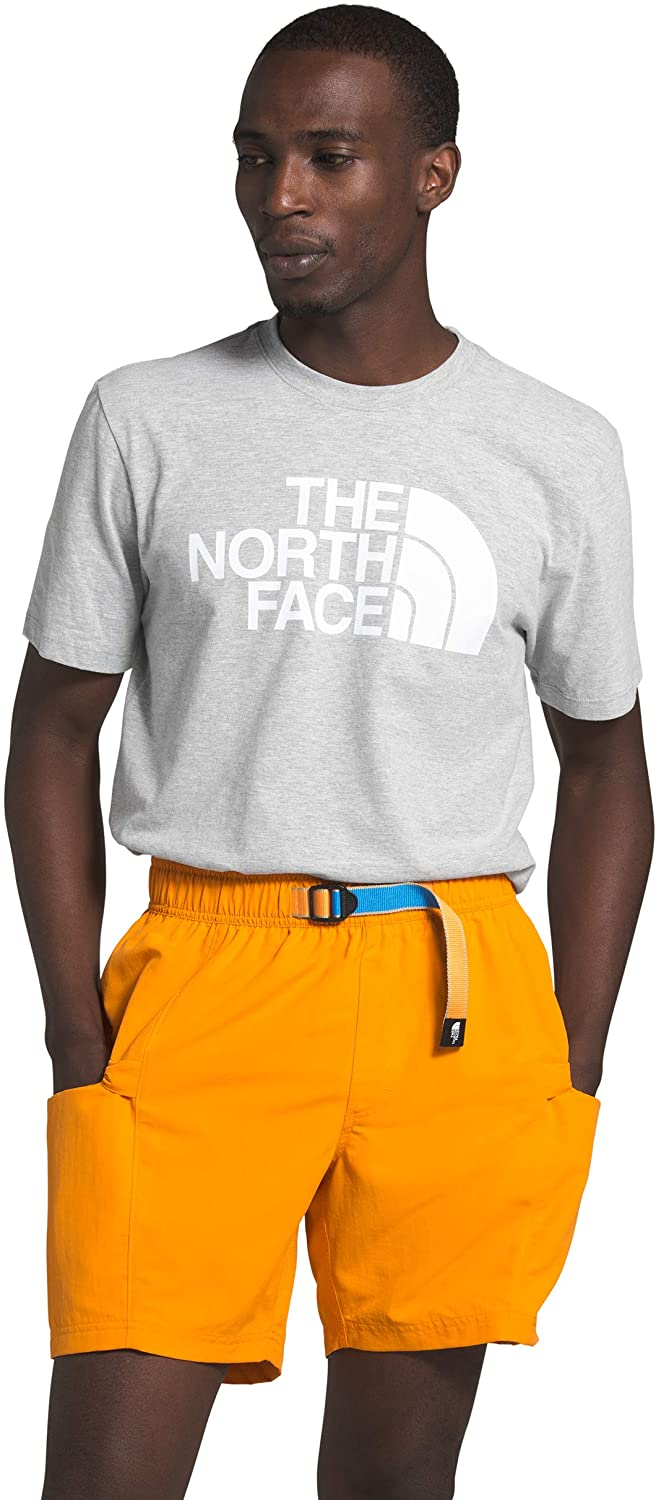 Men's The North Face Short-Sleeve Half Dome Tee in TNF Light Grey Heather from the front