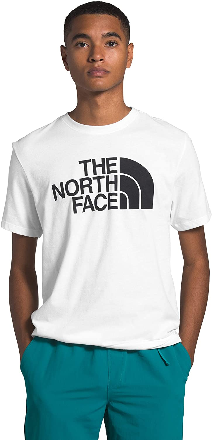 Men's The North Face Short-Sleeve Half Dome Tee in TNF White from the front