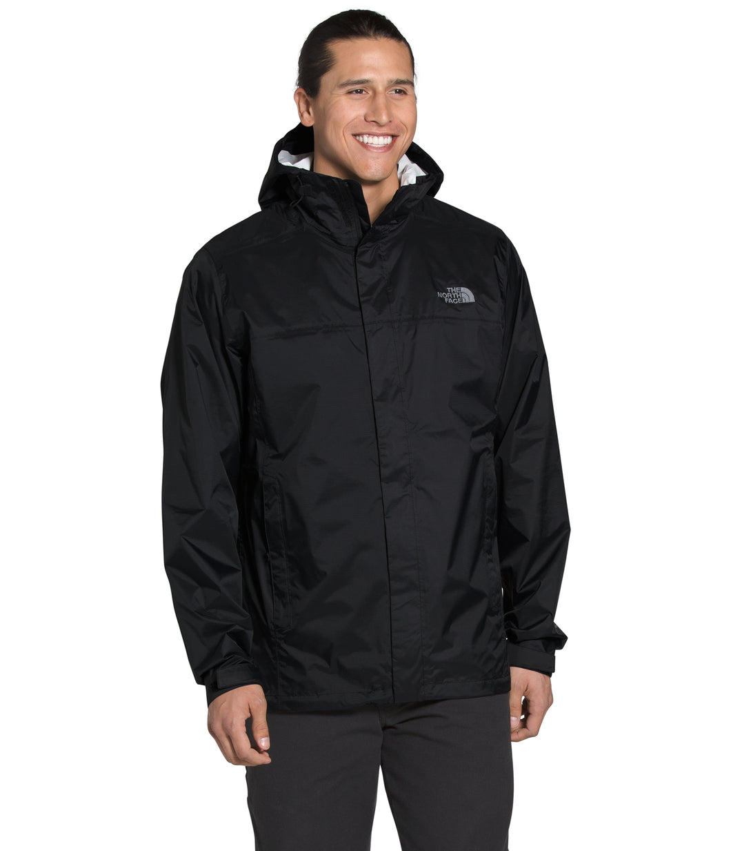 Men's The North Face Venture 2 Jacket - Tall in TNF Black/TNF Black/Mid Grey