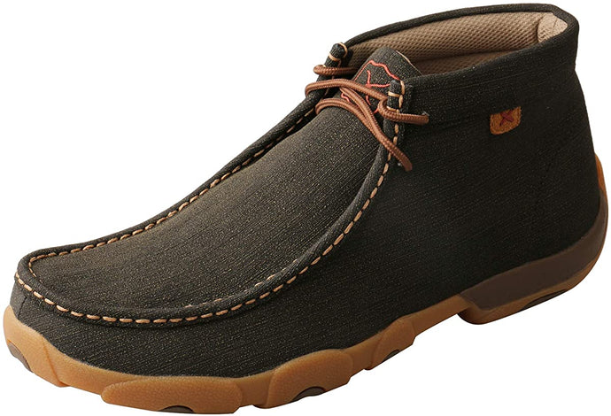 Men's Twisted X Chukka Driving Moccasins Shoe in Charcoal from the front