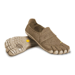 Men's Vibram Five Fingers CVT-Hemp Walking Shoe in Khaki from the front
