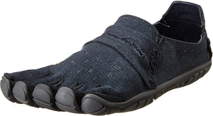 Men's Vibram Five Fingers CVT-Hemp Walking Shoe in Navy/Grey from the front