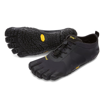 Men's Vibram Five Fingers V-Alpha Hiking Shoe in Black from the front