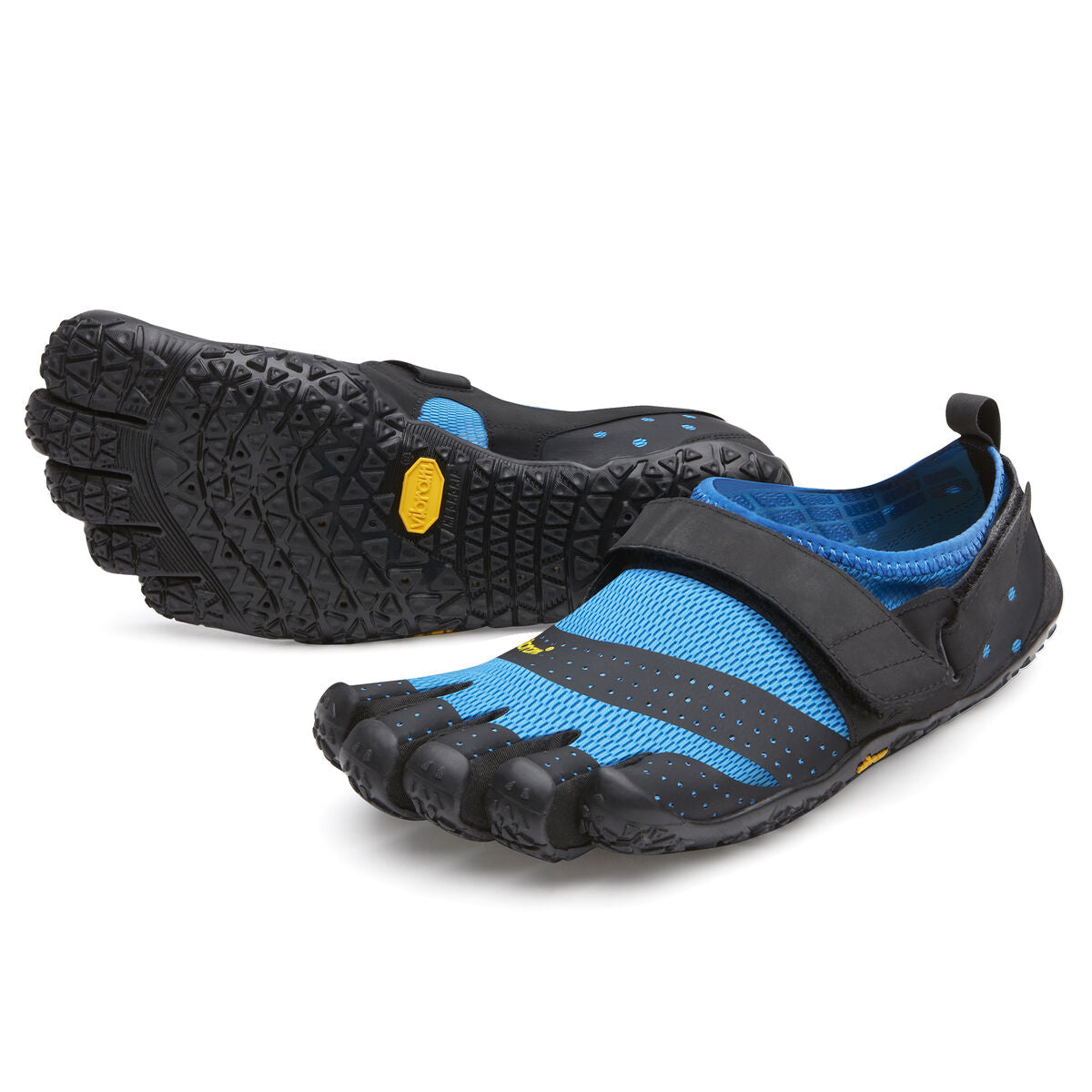 Men's Vibram Five Fingers V-Aqua Water Shoe in Blue/Black from the front