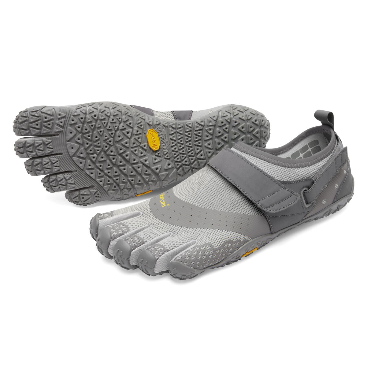Men's Vibram Five Fingers V-Aqua Water Shoe in Grey from the front