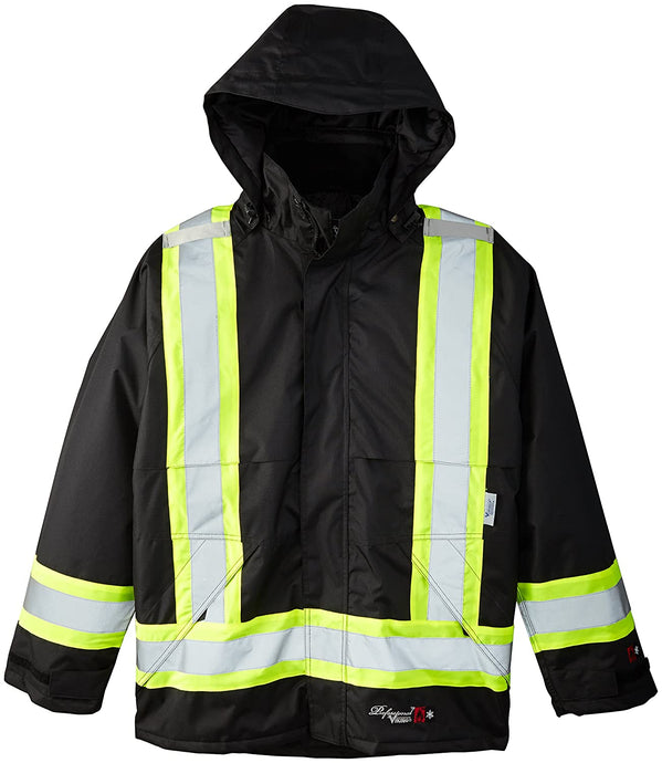 Men's Viking Insulated Journeyman 300D Flame Resistant Jacket in Black from the front