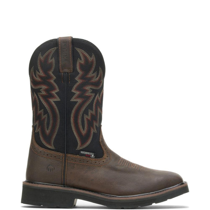 Wolverine Men's Rancher Waterproof Steel-Toe Wellington Boot in Black/Brown