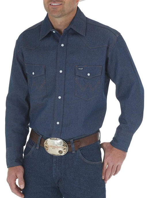 Men's Wrangler Cowboy Cut Work Shirt in Rigid