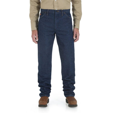 Men's Wrangler Flame Resistant Original Fit Jean in Prewash