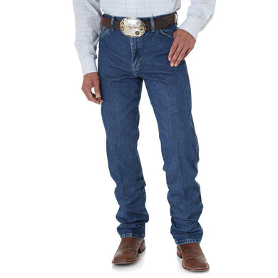 Men's Wrangler George Strait Cowboy Cut Original Fit Jean in Heavyweight Stone Denim