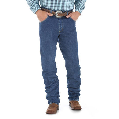 Men's Wrangler George Strait Cowboy Cut Relaxed Fit Jean in Heavyweight Stone Denim