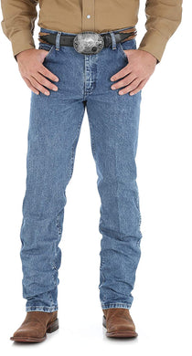 Men's Wrangler Premium Performance Cowboy Cut Regular Fit Jean in Dark Stone