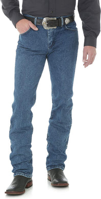 Men's Wrangler Premium Performance Cowboy Cut Slim Fit Jean in Dark Stone