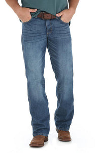 Men's Wrangler Retro Relaxed Fit Bootcut Jean in TB Wash in TB Wash