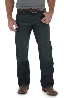 Men's Wrangler Retro Relaxed Fit Bootcut Jean in Worn Black