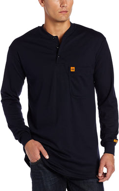 Men's Wrangler Riggs Workwear Flame Resistant Long Sleeve Shirt in Navy