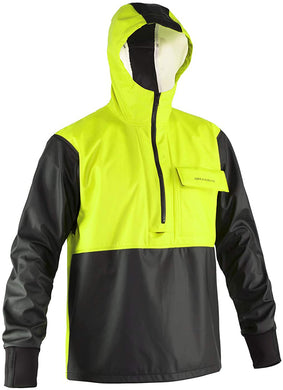 Neptune Anorak in Hi Vis Yellow color from the front view