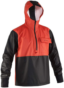 Neptune Anorak in Orange color from the front view