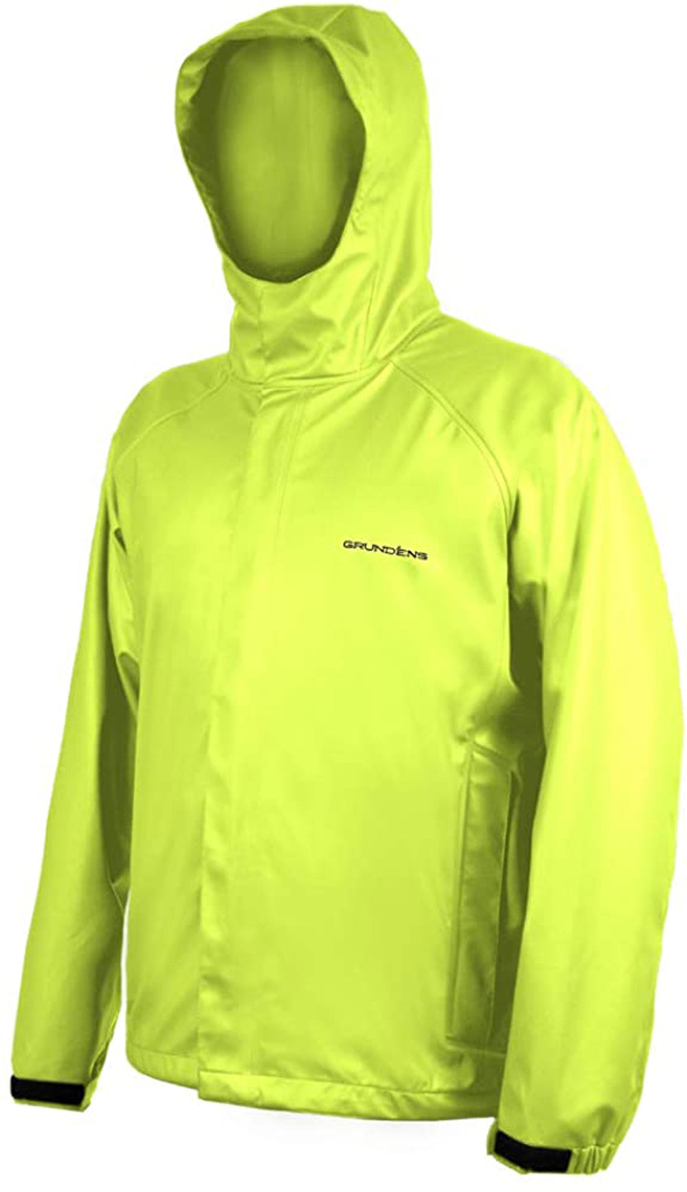 Neptune Jacket in Hi Vis Yellow color from the front view