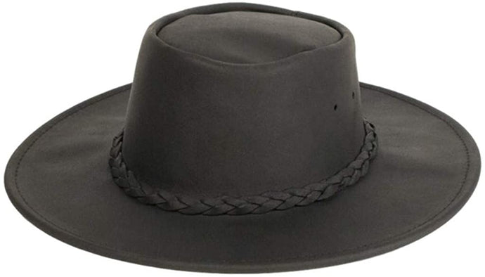 One Size Minnetonka Fold Up Hat Black in Black