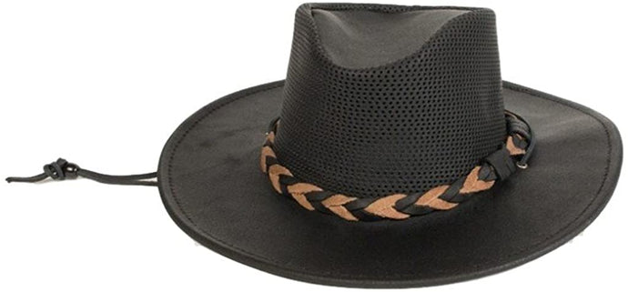 One Size Minnetonka Fold Up Outback Hat Black in Black