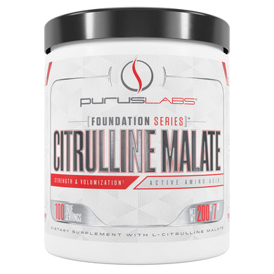 Purus Labs Citrulline Malate Dietary Supplement from the front view