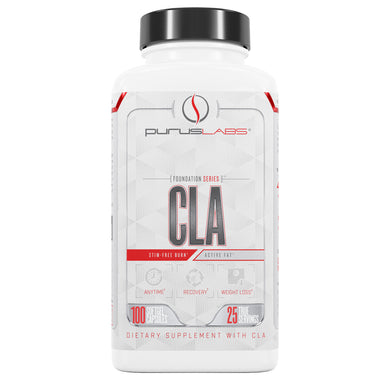 Purus Labs CLA Dietary Supplement from the front view