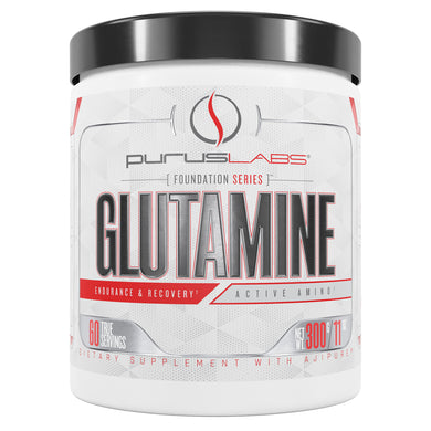 Purus Labs Glutamine Dietary Supplement from the front view