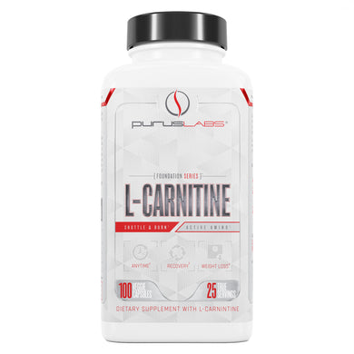 Purus Labs L-Carnitine Dietary Supplement from the front view