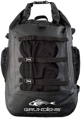 Rumrunner 30L Backpack in Black color from the front view