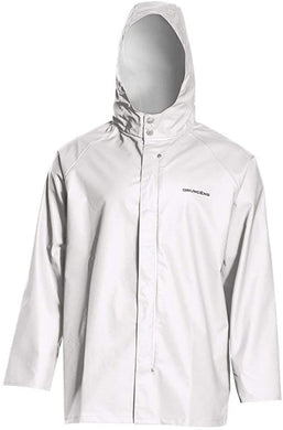 Shoreman Jacket in White color from the front view