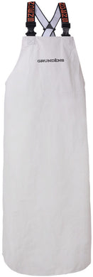 Shoreman PVC Apron in White color from the front view