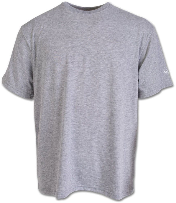 Short Sleeve Tech T-shirt in Athletic Grey color from the front view